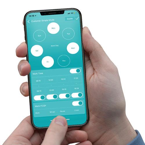 Smartphone App Voor Bediening Van De Fog App